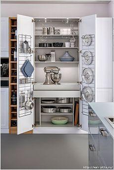 Идеи организации крышек для кастрюль на кухне