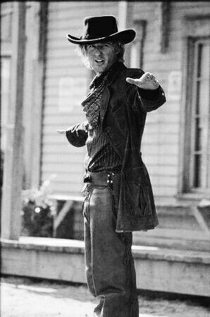 Owen Wilson as Roy O'Bannen aka Wyatt Earp in Shanghai Noon -- because he is frickin hilarious :)