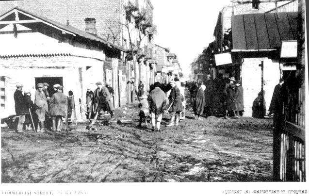 Lublin, Poland Ghetto , A view of a market