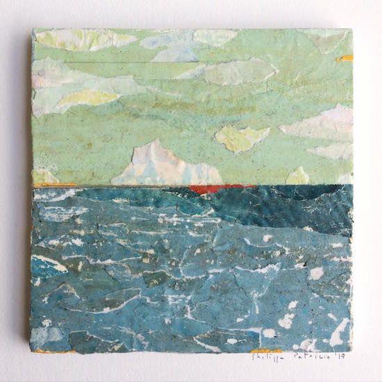 SEASCAPE IX /  collage on plywood /  15 x 15cm /  ©philippe patricio 2017