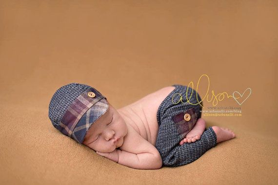 newborn boy fabric HAT Ashton  photography prop  by adorableprops, $36.00