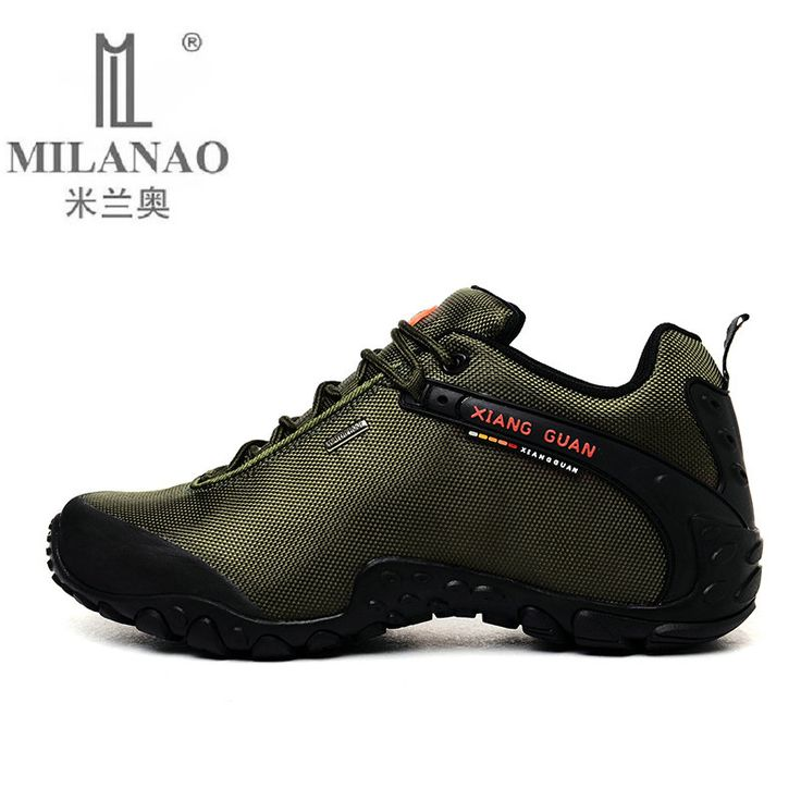 2016 MILANAO Man Outdoor Hiking Shoes fishing Athletic Trekking Boots Women Climbing Walking Sneskers large SIZE EUR 36-48