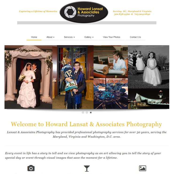 In February we launched this responsive website for a longtime client, a photographer in Maryland.