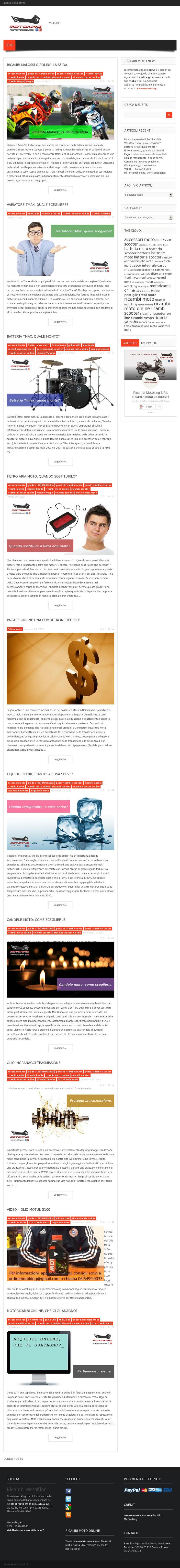 Creazione grafiche e revisione contenuti per Ricambi Moto King  courtesy of @Pinstamatic (http://pinstamatic.com)