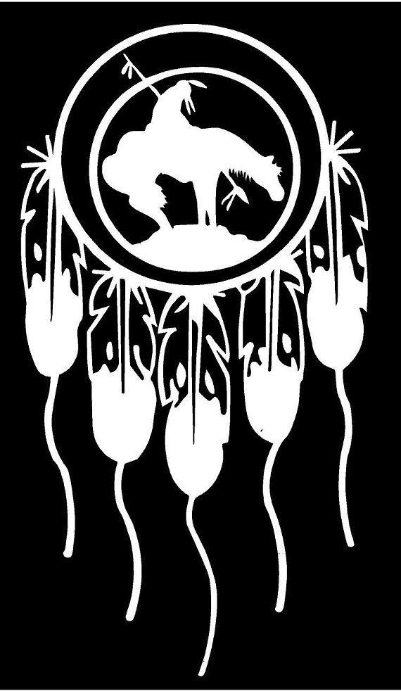 Vinyl Decal Dream Catcher Indian Last Ride Native American