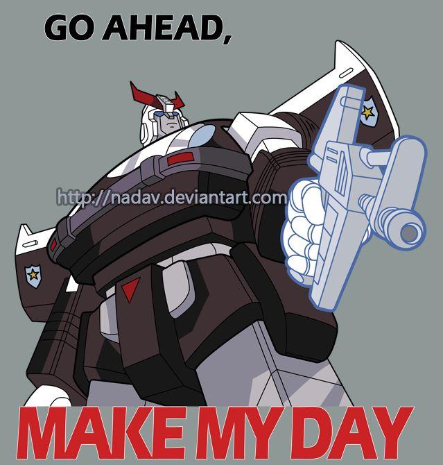 Prowl - Go ahead, make my day by nadav.deviantart.com on @DeviantArt