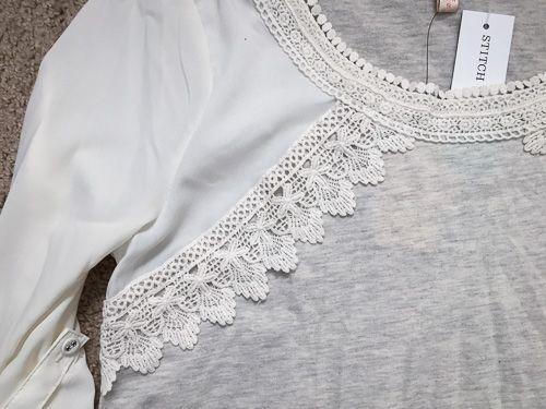 Stitch Fix. Darling top! https://www.stitchfix.com/referral/4371189 Stitch Fix: Skies are Blue Pike Crochet Trim Top {Beautiful detail. Just love it.}