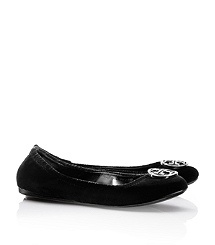 Tory Burch Violet Ballet Flat in black.