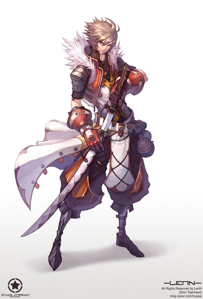 character art. swordsman sekina-tekina