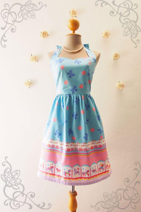 My Carousel Dress Baby Blue Tea Dress Carnival Dress by Amordress