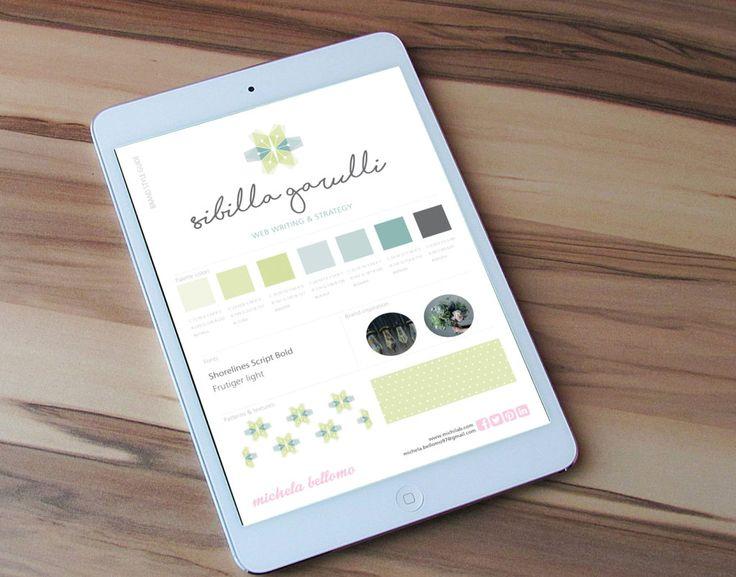 Brand style guide Sibilla Garulli - Web Writing & Strategy