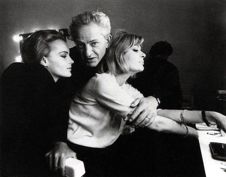 "Jules Dassin with Romy Schneider and Melina Mercouri. ""10:30 P.M. Summer."""