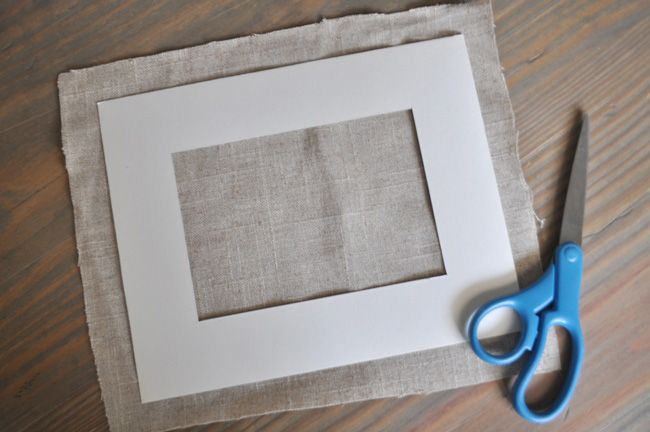 Bungalow Blue Interiors - Home - diy: make your own linen/burlap picture frame mats