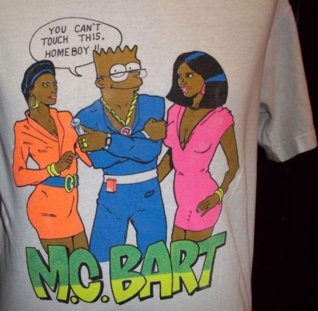 The Best Bootleg Bart Simpson Shirts: MC Bart