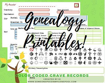 free genealogy forms excel