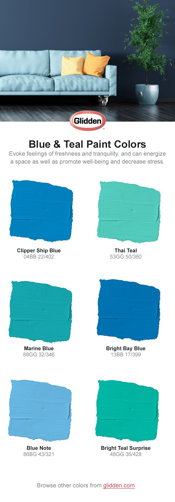True Blue Paint Color