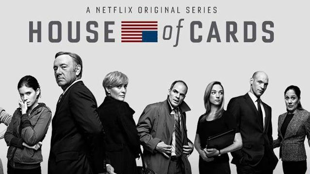 HOUSE OF CARDS - Kevin Spacey is at his devilish best as the Minority Whip from SC and Robin Wright Penn plays his  wife; good political drama