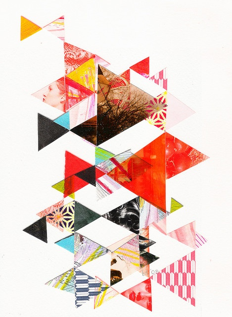 So could see a huge triangle collage on a wall in a Geometry classroom at school, Idea for collage and portfolio - Repin