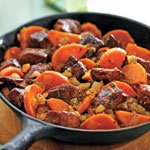 pork and sweet potato skilletPork Recipe, Food Pork, Maine Dishes, Skillet Recipes, Skillets Recipe, Potatoes Skillets, Canadian Living, Dinner Recipe, Sweets Potatoes