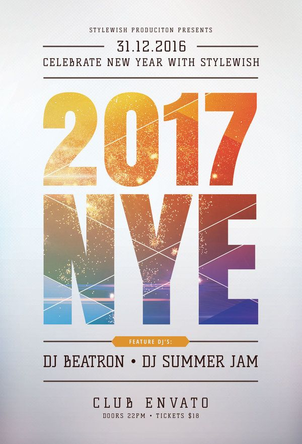 40 Best New Year Flyer Design Images On Pinterest Flyer Design