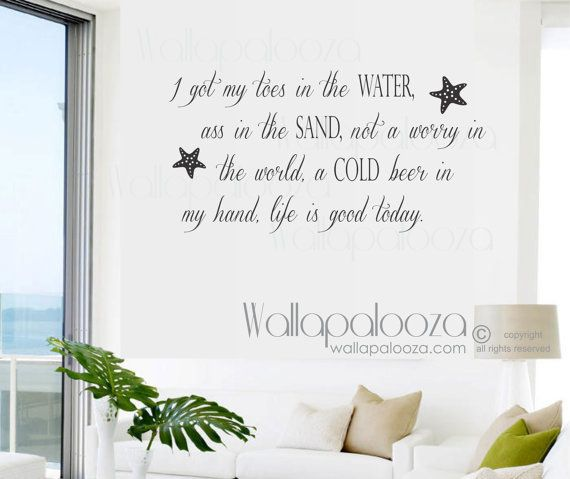 Best Family Wall Decals Images On Pinterest Family Wall - Wall decals beach quotes