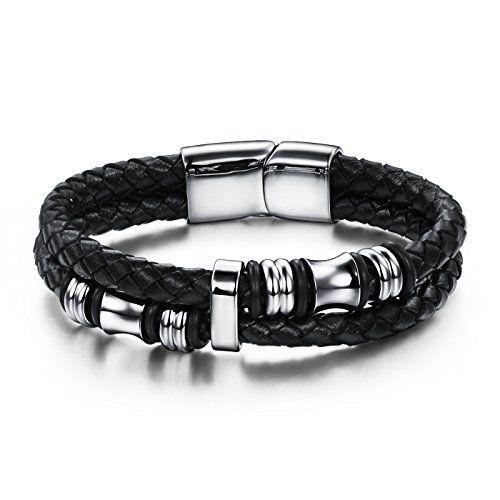 bracelet acier homme noir