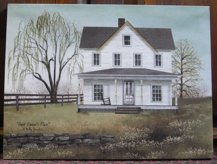 Aunt Emma's Place - Billy Jacobs canvas print at the Cottage Gift Shop - Elmira, NY. Reminds me of the farmhouse where I grew up!