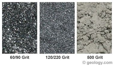 Rock tumbler grit - explanation of quantity and purpose of different grade grits