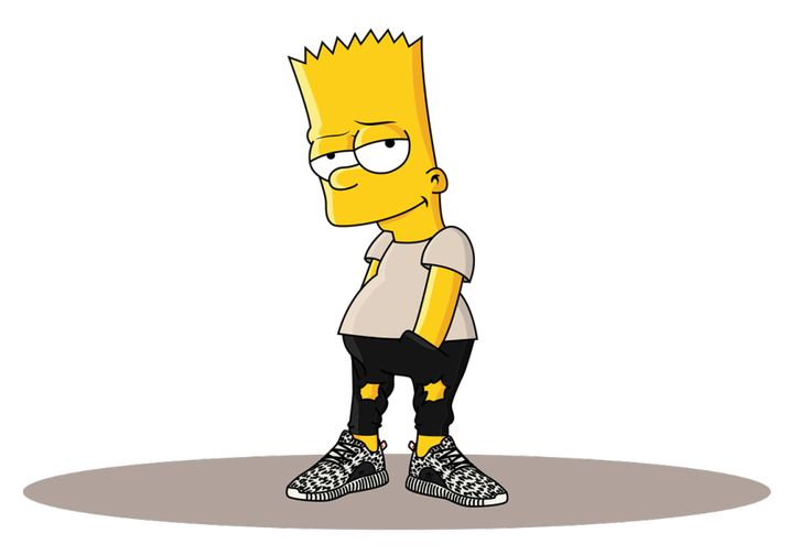 Bart Simpson in the Adidas Yeezy Boost 350