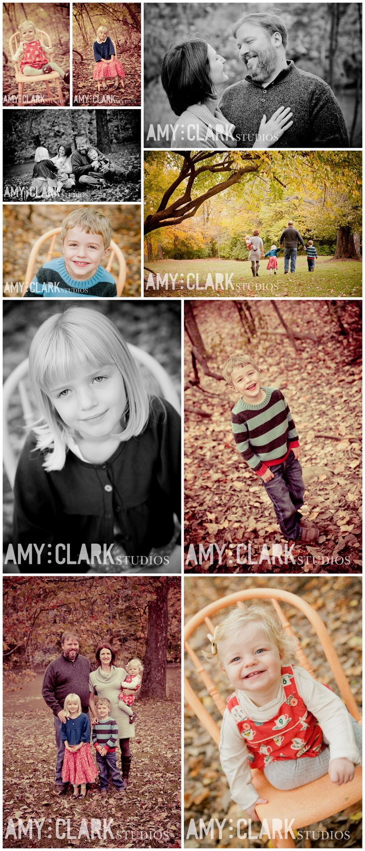 Fall family portraits. #photography #fall {Amy Clark Studios amyclarkstudios.com}