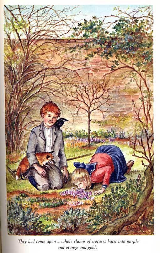 Illustration by Tasha Tudor fromThe Secret Garden, Mary
