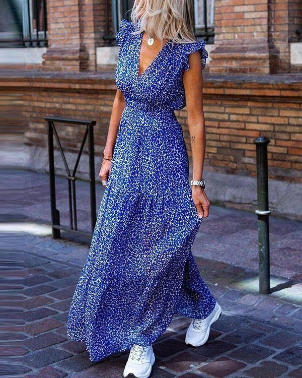 Schlitz mit blaues kleid langes Wow: Beatrice