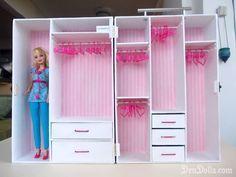 How to Make a Barbie Doll Closet | So I decide to make her a bigger and more beautiful handmade Barbie ...