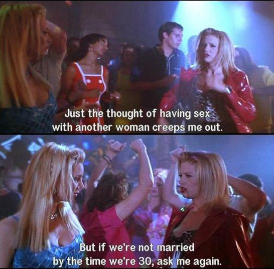 First off, Romy and Michele should be acknowledged as early and original LGBT warriors for their support and acceptance of marriage equality issues. | It's Time To Recognize That Romy And Michele Are The Greatest Cinematic Duo Of All Time