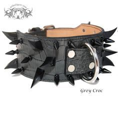 "XC30 - 3"" Wide Multi Spiked Dog Collar"