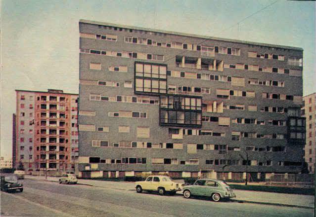 Edificio per abitazioni -.Luigi Caccia Dominioni - via Ippolito Nievo 28/1, Milano - 1954-55