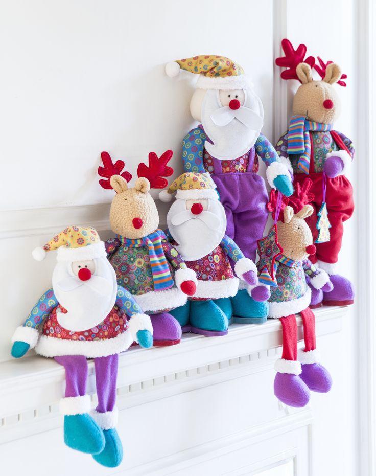 Figuras de fieltro para una #Navidad con look #ShabbyChic <3 2014 #Christmas!