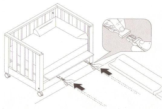 Resultado de imagen de cuna colecho cama canape