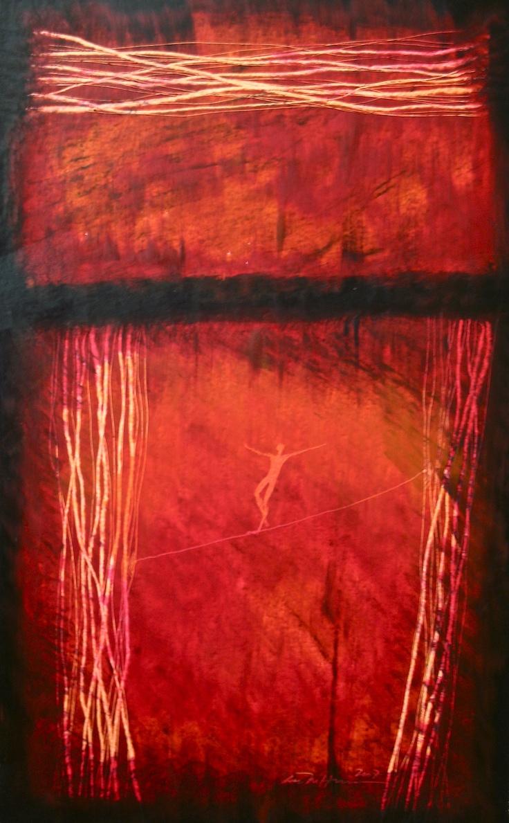 Åse Margrethe Hansen/Balansekunst, 2007. Oil pastel on paper