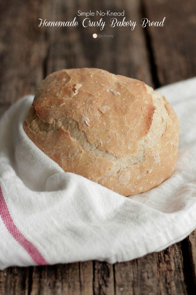Homemade Crusty Bakery Bread - Live Simply