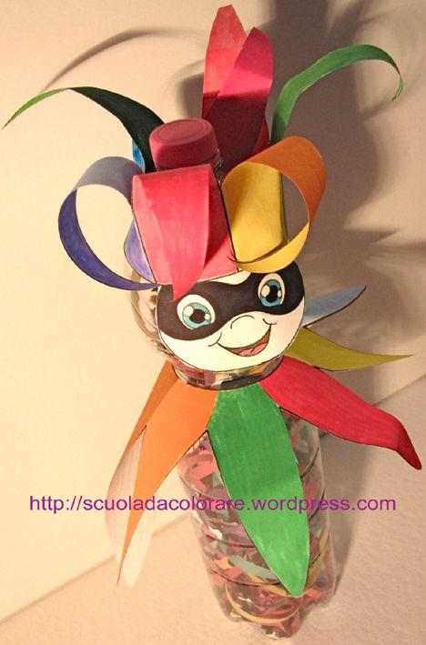 Un facile lavoretto di Carnevale per i bambini, realizzato con pochi materiali economici e di facile reperibilità! È la proposta di Carnevale dell'Archivio di Scuola da Colorare per i suoi iscritti...