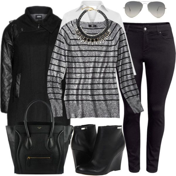 Monochromatic - Plus Size, created by alexawebb on Polyvore[ HGNJShoppingMall.com ] #fashion