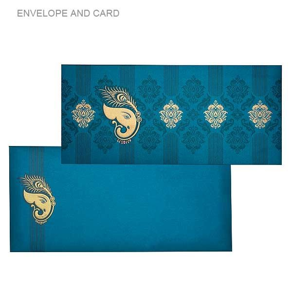 Ganesh and peacock design card