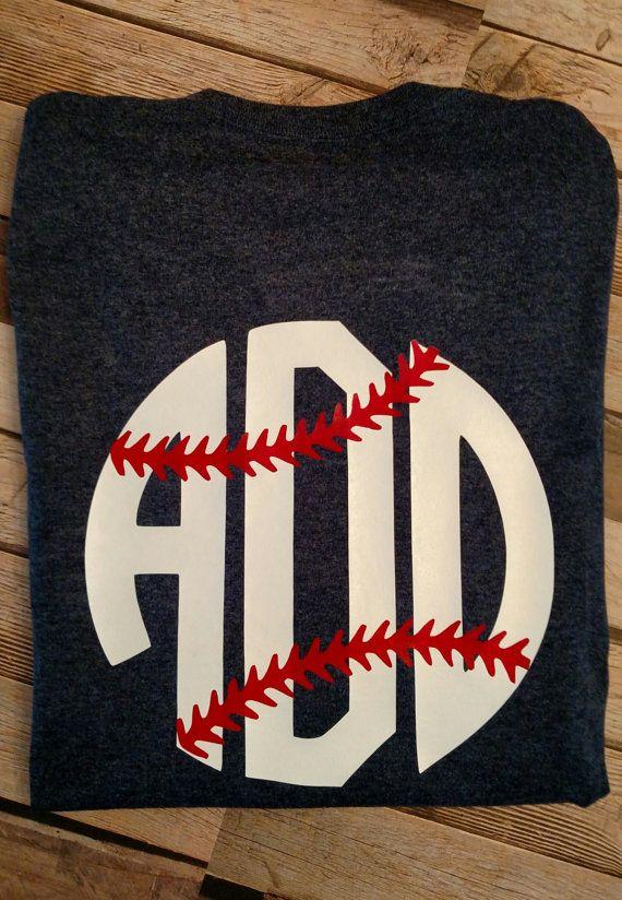 Monogram Shirt-Baseball Vinyl Shirt-Womens short sleeve monogram shirts-vinyl…