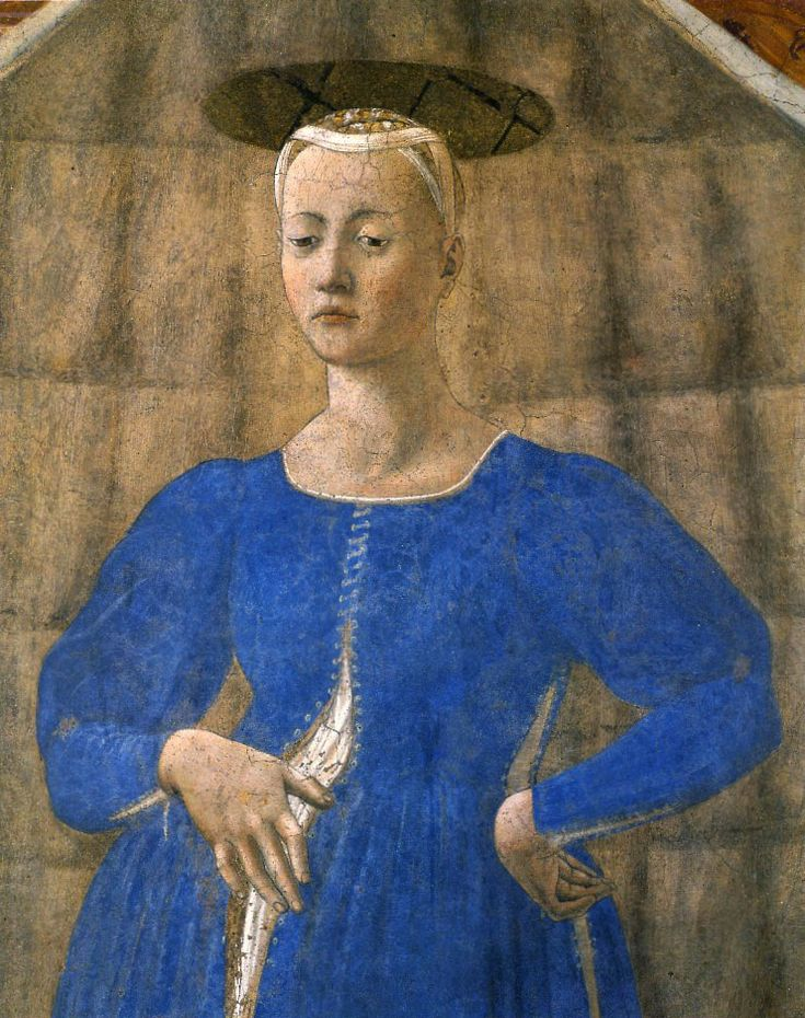 Пьеро делла Франческа. Мадонна Рожениц. Madonna del Parto. Фреска. 1465 г. Часовня кладбища в Монтерки.