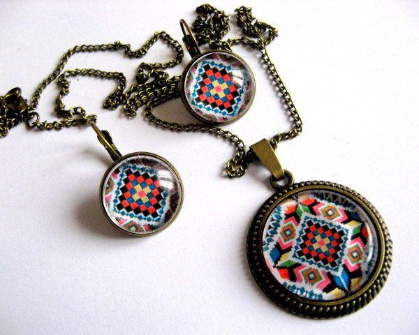 Bijuterii model traditional, bijuterii set lucrat manual femei - idee cadou femei