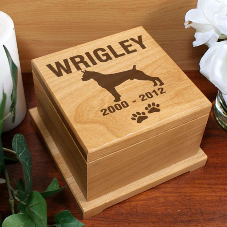 Personalized Engraved Dog Breed Pet Memorial Urn - Gifts Happen Here