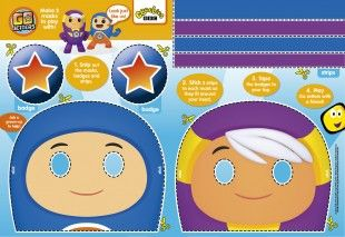 Little Go Jetters fans can make these face masks, and look just like their favourite characters!