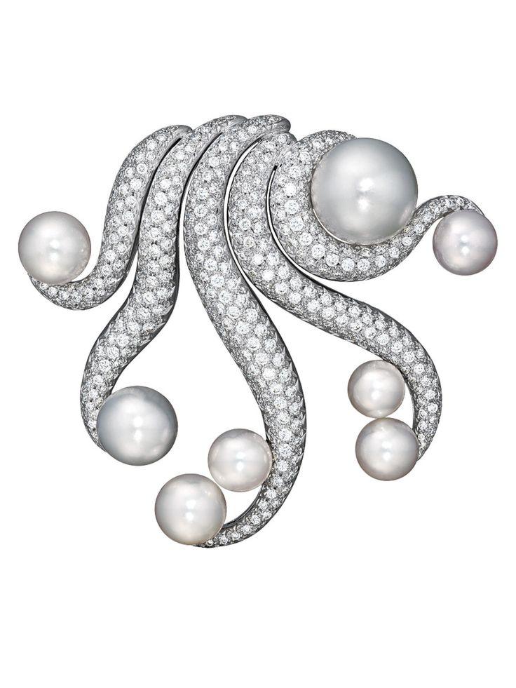 "Verdura ""Octopus"" Pearl and Diamond Brooch"