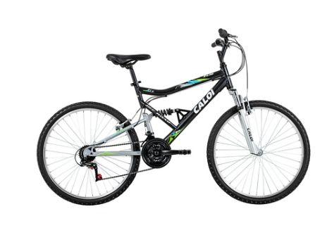 Bicicleta Caloi Aro 26 - 21 Marchas KS - 2016 Mountain Bike Preta